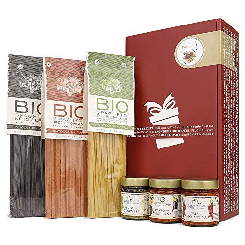 Apropos Geschenk Con Gusto Geschenkset for Pasta-Lovers (3x Bio Spaghetti & 3x Pesto / verschiedene...