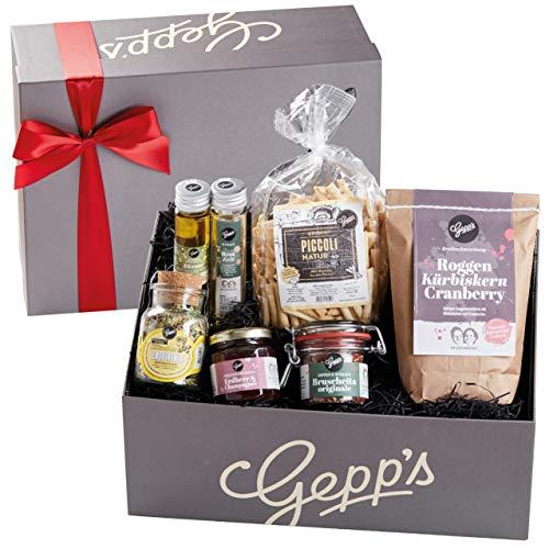 Gepp's Feinkost Geschenkbox Verwöhnpaket | Geschenkkorb gefüllt mit köstlichen Delikatessen,...