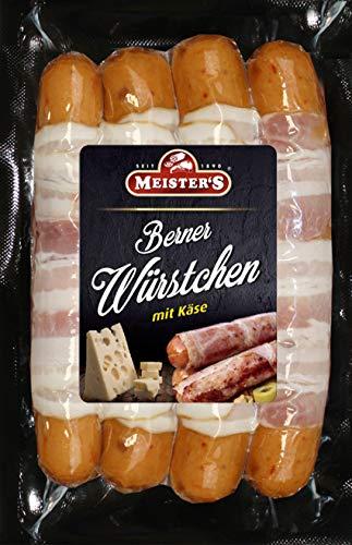 Berner Würstchen mit Käse & Bacon | Käsewurst geräuchert | Bratwurst fein | BBQ Griller zum...