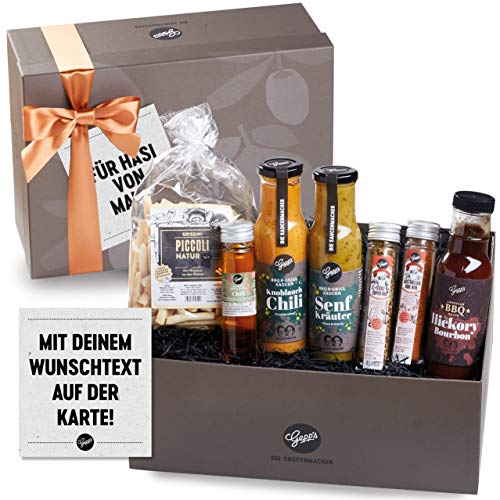 Gepp's Genuss-Box für Männer - mit personalisierter Grußkarte I Geschenkbox gefüllt mit...