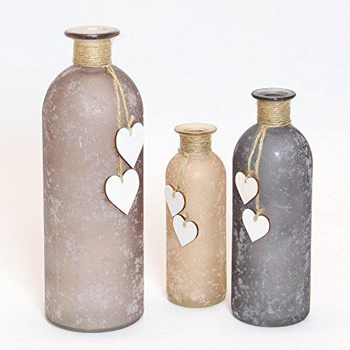 Vase 'Herzchen', im 3er Set