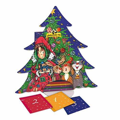 Goldmännchen Tanne Adventskalender, 24 Teesorten, Teebeutel, Weihnachtskalender, Kalender,...