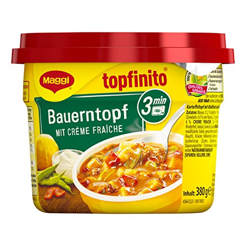 Maggi Topfinito Bauerntopf mit Creme fraiche, fertiger Kartoffel-Eintopf mit Bohnen und Paprika,...