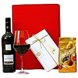 Geschenkset Mailand Geschenkkorb mit italienischem Wein und Lindt Pralinen