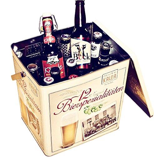 Kalea Beer Box, Metallbox mit 3D-Prägung, Bierspezialitäten, Perfekte Geschenkidee für Männer,...