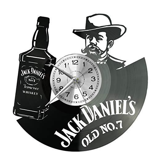 Whisky Wanduhr Uhr Vinyl Schallplatte Retro-Uhr groß Uhren Style Raum Home Dekorationen Tolles...