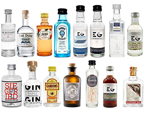 Gin Mini Set Probierset 15er - Bombay + Edinburgh + June + Gordons + Monkey 47 + Friedrichs +...
