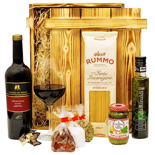 Geschenkset Verona | Italien Geschenkkorb gefüllt mit Wein, italienischen Spezialitäten &...