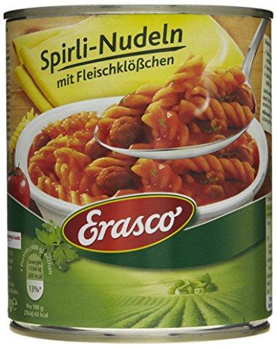 Erasco Spirli-Nudeln mit Fleischklößchen (1 x 800 g Dose)