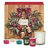 Yankee Candle Adventskalender-Geschenkset, mit 12duftenden Votivkerzen, 12duftenden Teelichten...