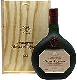 Rarität: Armagnac Baron de Cygnac Jahrgang 1968 0,7l inkl. Holzkiste