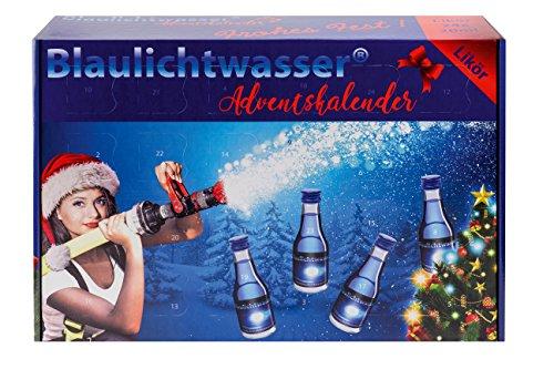 Blaulichtwasser - Blaulichtwasser Adventskalender - Motiv:'Schneegestöber' - Likör 16% vol.