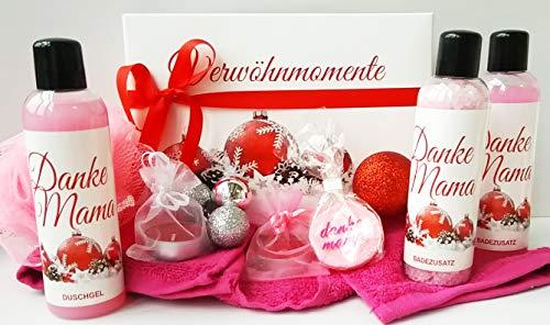 Wellness Weihnachtsgeschenk Set Danke Mama - hochwertige Geschenkbox - Pflege und Entspannung zur...