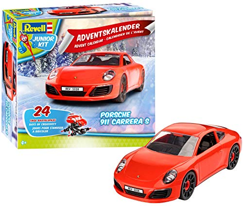 Revell Junior Kit 01018 - Adventskalender Porsche 911 Carrera S - 24 Tage cooler Bastelspaß, der...