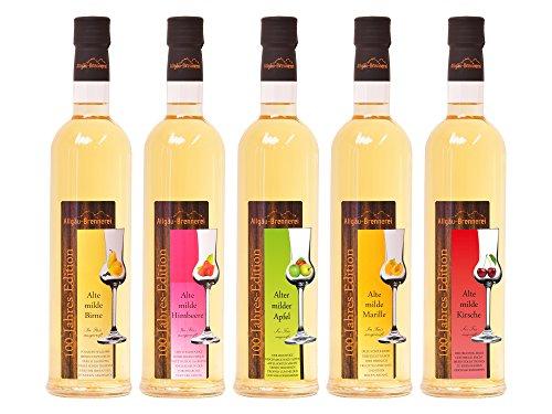 Allgäu-Brennerei:'Alte Milde'-Spirituosen - die komplette Serie (5 x 0,5 l)