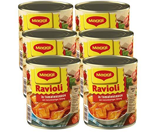MAGGI Ravioli in Tomatensauce, Teigtaschen gefüllt mit würzigem Fleisch, in fruchtiger Sauce,...