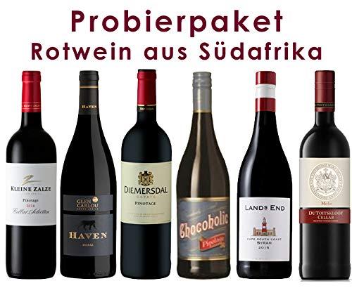 6er Probierpaket   Rotwein aus Südafrika   6 x 0,75 l