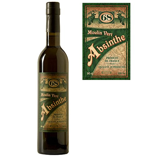 Absinth Moulin Vert aus Frankreich | Original Rezeptur | 68% Vol. | Premium Qualität mit...