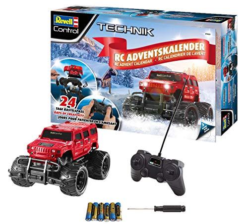 Revell Control 01022 Adventskalender RC Offroad-Truck, mit Fernsteuerung und Batterien in 24 Tagen...