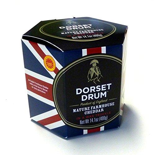 Cheddar Cheese Farmhouse 400g Dorset Drum 12 Monate gereift Cheddar Käse KÜHLBOX-Versand mit...