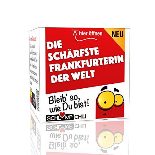 Die schärfste Frankfurterin der Welt - ein witziges und originelles Geschenk zum Umzug, Neuanfang,...