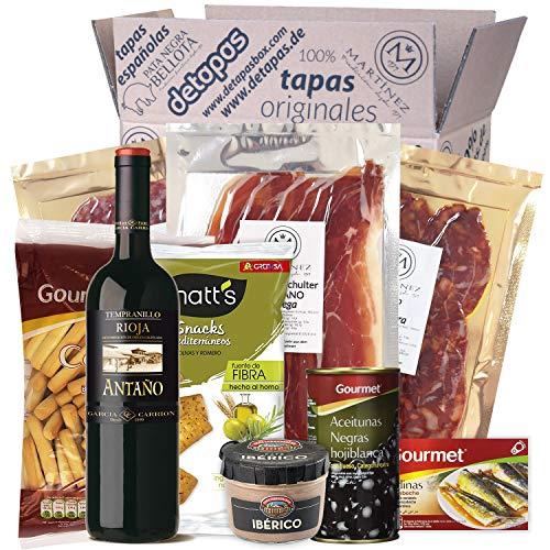 Präsentbox - Tapas-Abend für Zwei I Tapas para dos I Geschenk für Feinschmecker und Spanienfans |...