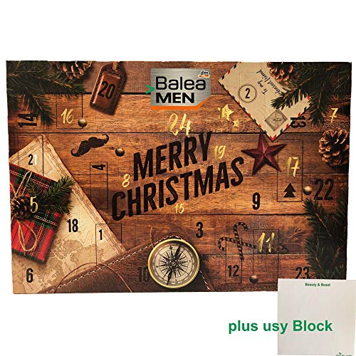 Balea Men Adventskalender 2019 (1er Pack) plus usy Block Beauty & Beast