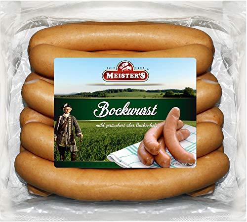 Bockwurst frisch | traditionelles Würstchen geräuchert | Bockwürst im Naturdarm | Curry-Wurst...