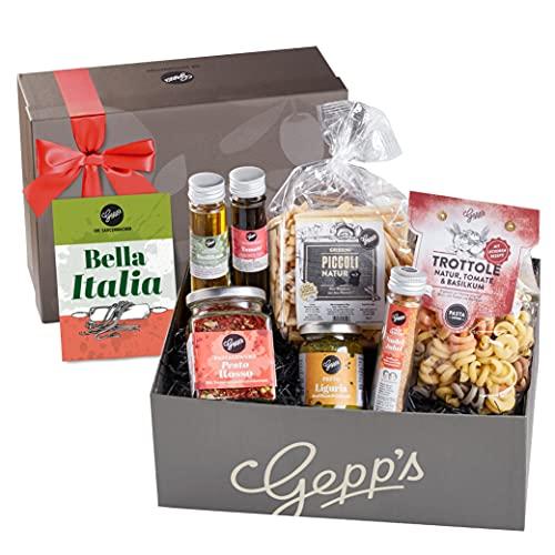 Gepp's Feinkost Bella Italia Geschenkbox I Geschenkkorb für Männer und Frauen I Feinste...