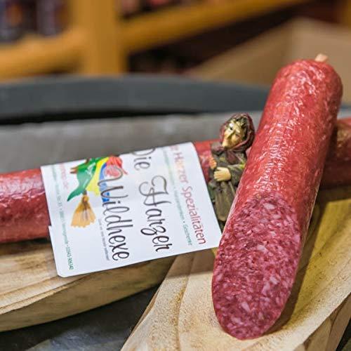 Harzer Wildhexe | mild geräucherte Edelsalami aus Wildschweinfleisch und Hirschfleisch | Wildsalami...