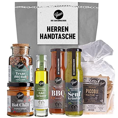 Gepp's Feinkost Herrenhandtasche I Lustiges Männergeschenk gefüllt mit Delikatessen wie Grill-...