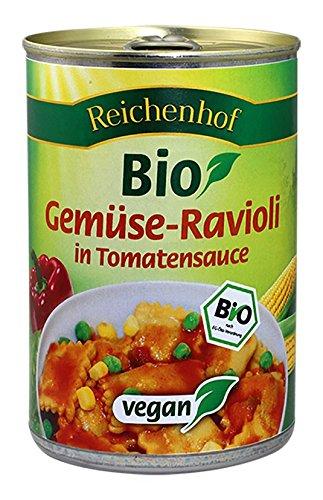 Reichenhof Gemüse-Ravioli in Tomatensauce vegan, 6er Pack (6 x 400 g)