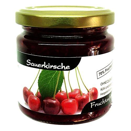 Xylit Fruchtaufstrich 'Sauerkirsche' ohne Zuckerzusatz, nur mit Xylit gesüßt, 70% Fruchtanteil...