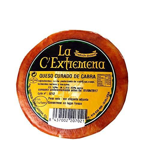 ganzer Laib La Extremeña gereifter Ziegenkäse curado mit pasteurisierter Milch aus Spanien -...
