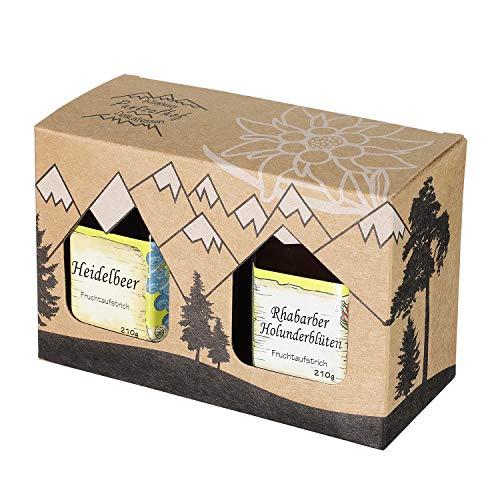 Allgäuer Genuss-Box - Feinkost Geschenk-Set 2 x 210g Delikatessen Fruchtaufstrich - Attraktives...
