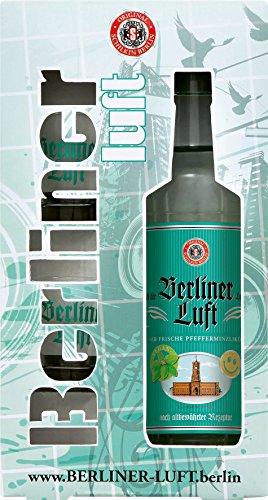 Berliner Luft Pfefferminzlikör 0,7 Liter + 2 Gläser in Geschenkverpackung