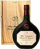 Rarität: Armagnac Baron de Cygnac 0,7l Jahrgang 1977 incl. Holzkiste