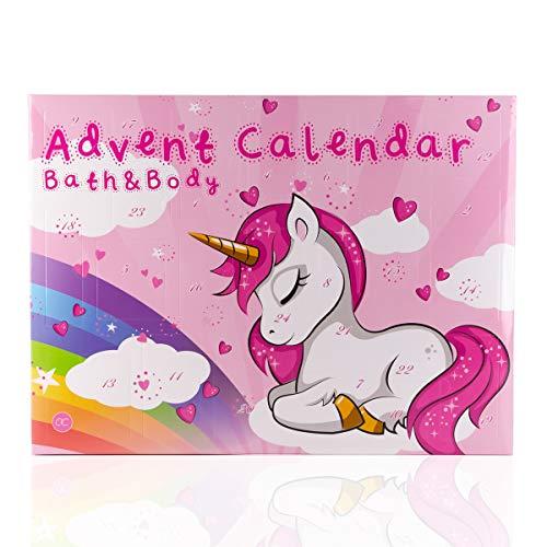 Accentra Beauty-Adventskalender Unicorn für Frauen, Mädchen, Pferde- & Einhorn-Fans, 24 Kosmetik...