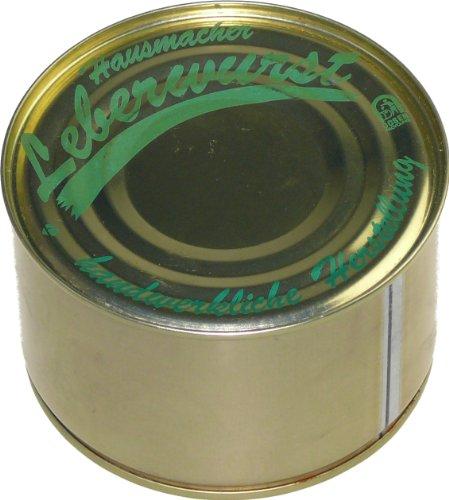 Schwarzwald Metzgerei: Dosenwurst Leberwurst Hausmacher Art 400g