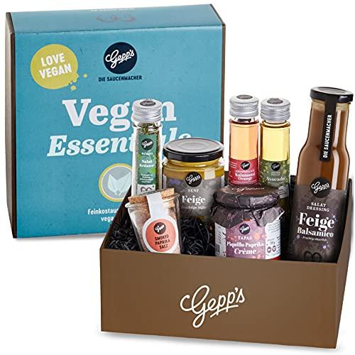 Gepp's Feinkost Vegan Essentials Geschenkbox I Gefüllt mit veganen Köstlichkeiten, hergestellt...