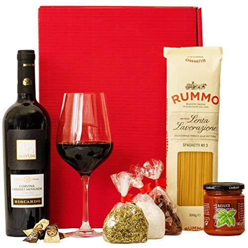 Geschenkset Rom | Italien Geschenkkorb mit Wein & italienischen Spezialitäten | Italienischer...