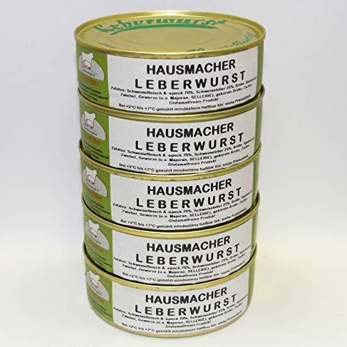 Hausmacher Leberwurst 5x200g Dosenwurst/ Wurstkonserven, Vorteilsset, Vorratsset, Landmetzgerei...