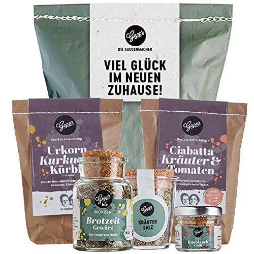 Gepp's Feinkost Brot und Salz Geschenk zum Einzug I 2 verschiedene Brotbackmischungen,...