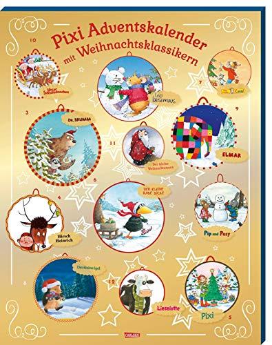 Pixi Adventskalender GOLD 2020: Adventskalender mit 24 Weihnachts-Klassikern als Pixi