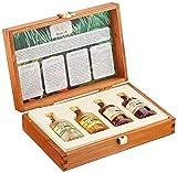 Rhum J.M. Probier- und Geschenkset: 4 x 50 ml in hochwertiger Holzkiste | Rhum Blanc Agricole, J.M....