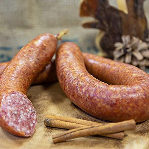 Harzer Bratwurst mit Kümmel im Ring | Harzer Rohwurstspezialität | Perfekte Brotzeit für...
