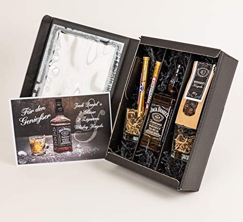 """Whisky Geschenkpaket """"Für den Genießer"""" für Herren - Jack Daniels Whisky Geschenkset für..."""
