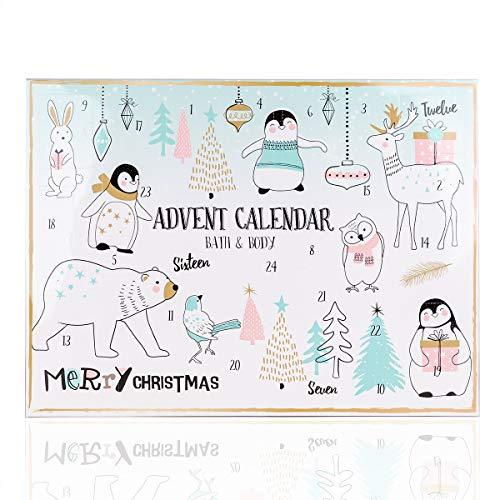 Accentra Adventskalender Happy Holidays Für Mädchen Mit 24 Bade-, Körperpflege Und Accessoires...