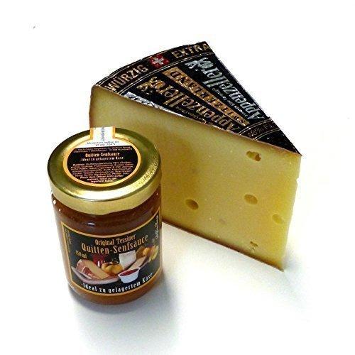 Appenzeller Käse 300g Extra Schweizer Käse 150ml Quittensenf