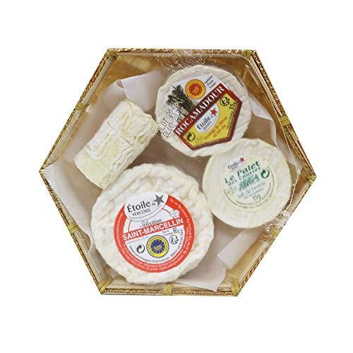 Französische Käse-Kompositionen, Set aus 4 Weichkäsesorten, 185g